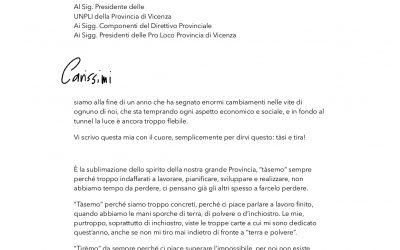 Un grazie particolare al Consigliere della Provincia di Vicenza Delegato al Turi…