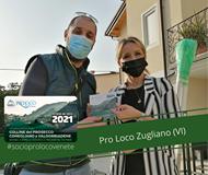"""Potrebbe essere un'immagine raffigurante 2 persone e il seguente testo """"NIONENAZION UNPLI PROLOCO ITALIA ROO 2021 TESSERA del SOCIO 2021 COLLINE del PROSECCO CONEGLIANO VALDOBBIADENE #socioprolocovenete Pro Loco Zugliano (VI)"""""""