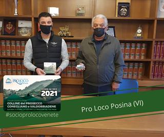 """Potrebbe essere un'immagine raffigurante il seguente testo """"T IAONA UNPLI PROLOCO D'ITALIA TESSERA SOCIO 2021 COLLINE del PROSECCO CONEGLIANO VALDOBBIADENE #socioprolocovenete Pro Loco Posina (VI)"""""""