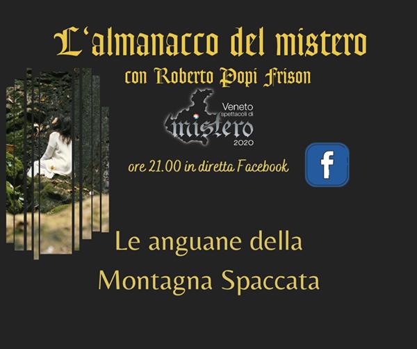 Appuntamento questa sera alle 21 in diretta facebook sulla pagina Veneto Spett…